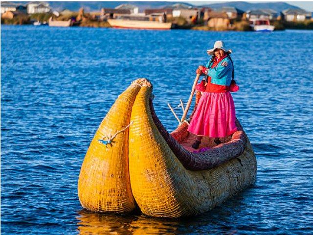 Navegação ao Lago Titicaca, Ilha dos Uros e Ilha Taquile
